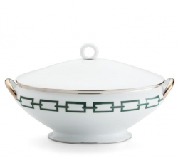 Catene Green Oval Soup Tureen and Cover