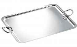 Vertigo Silver Plated Rectangular Tray with Handles