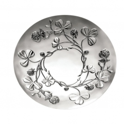 Trefle Silver Plated Clover Vines Decorative Bowl