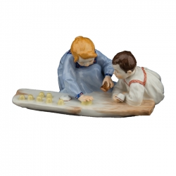 Two Children with Sand Moulds