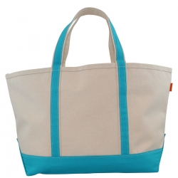 Large Turquoise Boat Tote