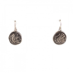 Alexander/Zeus Replica Coin Earrings