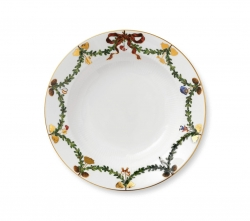 Star Fluted Christmas Rim Soup