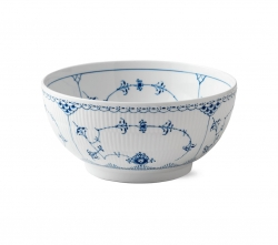 Blue Fluted Half Lace 3.25 Quart Bowl