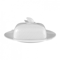 Waves Relief Butter Dish