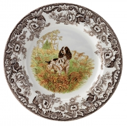 Woodland English Springer Spaniel Salad Plate