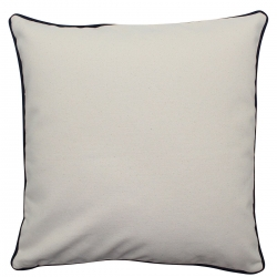 Natural Pillow with Navy Trim
