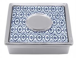 Navy Ikat Signature Cocktail Napkin Box