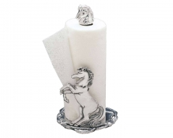 Rearing Horse Paper Towel Holder