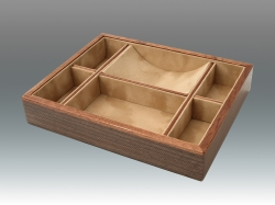 Wood Wenge Divided Valet Tray