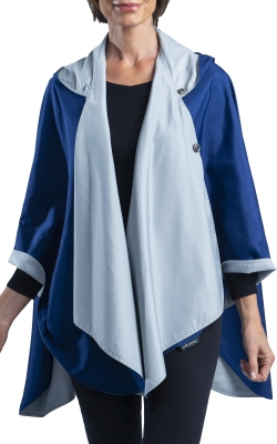 Navy and Grey Travel Cape