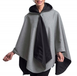 Pewter Grey and Black Rainproof Warmcaper