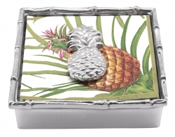 Cocktail Napkin Box - Tropical Pineapple