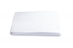 White Talita Satin Stitch Queen Fitted Sheet