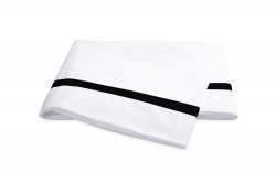 Lowell White With Black Flat Sheet