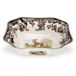 Woodland Deer Square Serving Bowl