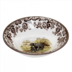 Woodland Black Bear Ascot Cereal Bowl