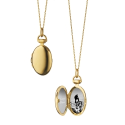 18K Yellow Gold Petite Anna Locket Necklace