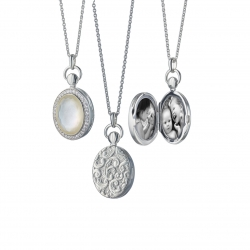 Mother of Pearl Petite Stone Locket