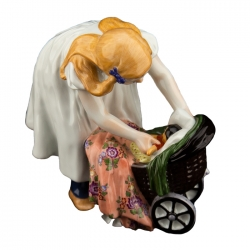 Girl with Doll's Pram