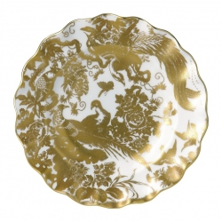 Gold Aves Accent Fluted Dessert Plate
