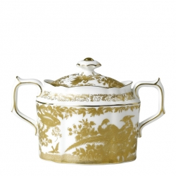 Gold Aves Covered Sugar Bowl