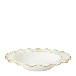 Elizabeth Gold Rim Soup Bowl