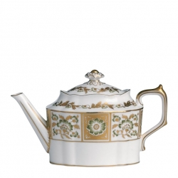 Derby Panel Large Green Tea Pot