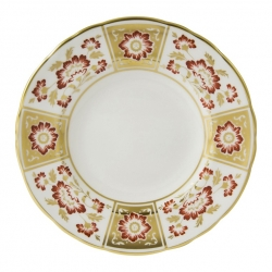 Derby Panel Red Bread and Butter Plate