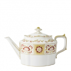 Derby Panel Red Tea Pot