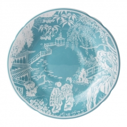 Mikado Turquoise Tea Cup Saucer