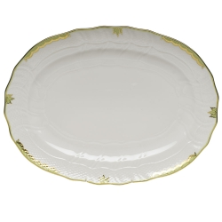 Princess Victoria Green Oval Platter