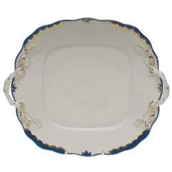 Princess Victoria Blue Square Cake Plate