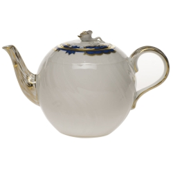 Princess Victoria Blue 36 Ounce Tea Pot with Rose
