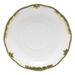 Princess Victoria Dark Green Tea Saucer
