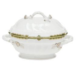 Princess Victoria Dark Green Tureen with Branch Handles