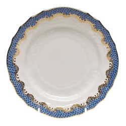Fish Sale Blue Bread and Butter Plate