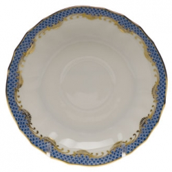 Fish Scale Blue Canton Saucer