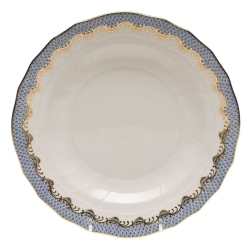 Fish Scale Light Blue Dessert Plate