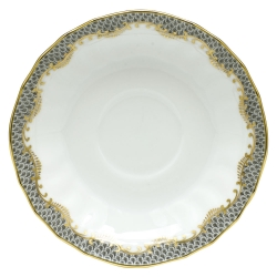 Fish Scale Gray Canton Saucer