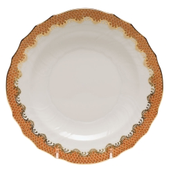 Fish Scale Rust Dessert Plate