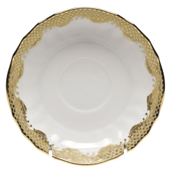 Fish Scale Gold Canton Saucer