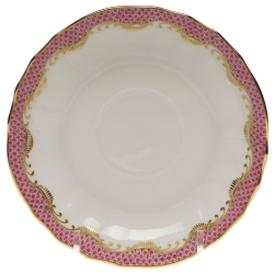 Fish Scale Pink Canton Saucer