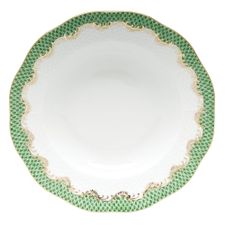 Fish Scale Jade Rim Soup Plate