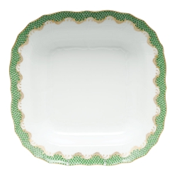 Fish Scale Jade Square Fruit Dish