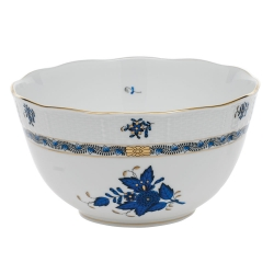 Chinese Bouquet Black Sapphire Round Bowl