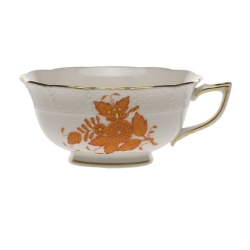 Chinese Bouquet Rust Tea Cup