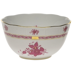 Chinese Bouquet Raspberry Round Bowl