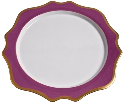 Anna's Palette Purple Orchid Charger