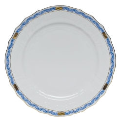 Chinese Bouquet Garland Blue Serivce Plate